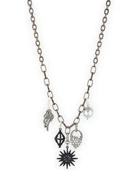Lulu Frost - Hematite Charm Necklace - Lyst