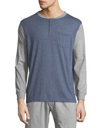 Unsimply Stitched - Men's Pocket Baseball Henley Shirt - Lyst