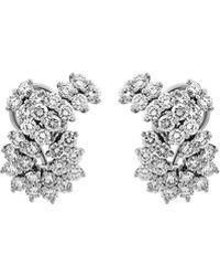 Tiffany & Co. - Estate Platinum Diamond Earrings - Lyst