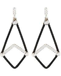 Alor Triangle Earrings W/ Diamonds Black