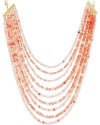 Lydell NYC - Layered Multi-strand Beaded Necklace - Lyst