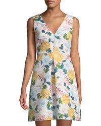 Sam Edelman - Vintage-floral Brocade Mini Dress - Lyst