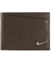 Nike - Men's Pebbled Leather Pass Case Wallet - Lyst
