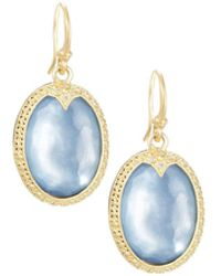 Armenta - Old World Oval Triplet Drop Earrings - Lyst
