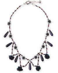 Lulu Frost - Rose Crystal Statement Necklace - Lyst