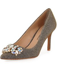 Neiman Marcus - Ruby Point-toe Embellished Pumps - Lyst