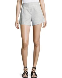 Bishop + Young - Ana Striped Pocket Shorts - Lyst
