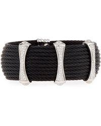 Alor - Noir 10-row Cable Cuff Bracelet W/ Pave Diamond Stations - Lyst