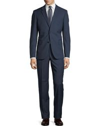 Neiman Marcus | Two-button Textured Two-piece Suit | Lyst