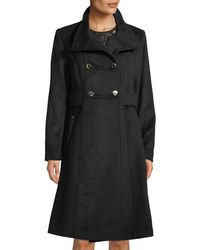 Karl Lagerfeld - Double-breasted Wool-blend Military Coat - Lyst