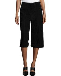 Neiman Marcus - Suede Culottes - Lyst