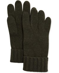 Portolano - Cashmere Jersey Gloves W/ Ribbed Cuffs - Lyst