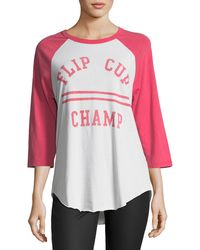 Junk Food   Flip Cup Champ Raglan Tee   Lyst