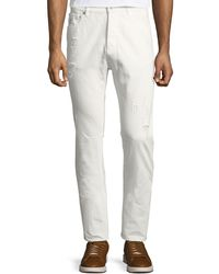 Brunello Cucinelli - Distressed Straight-leg Jeans - Lyst