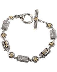 Konstantino - Asteri Pave White Diamond Link Bracelet - Lyst
