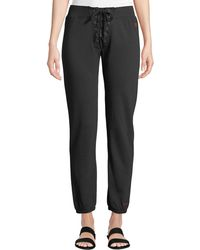 Peace Love World - Lace-front Ankle-length Logo Sweatpants - Lyst