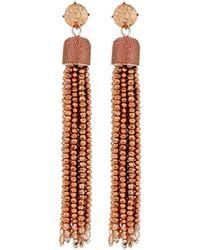 Lydell NYC - Glass Tassel Drop Earrings - Lyst
