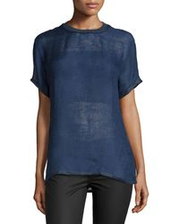 Versace - Short-sleeve Jewel-neck Shirt - Lyst