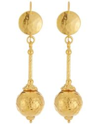 Jose & Maria Barrera - 24k Gold-plated Hammered Ball Drop Earrings - Lyst