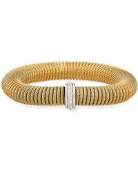 Alor - Kai Steel & 18k Gold Spring-coil Bangle - Lyst