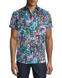 Robert Graham - Classic-fit Genesee Floral Short-sleeve Sport Shirt - Lyst