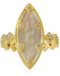 Freida Rothman - Textured Mother-of-pearl Eyelet Ring - Lyst