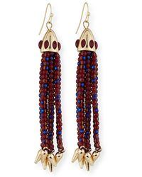 Lulu Frost - Beaded Red Tassel Drop Earrings - Lyst