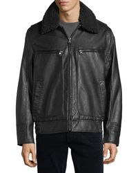 Marc New York - Amherst Faux-leather Bomber Jacket - Lyst