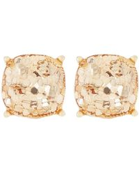 Lydell NYC - Golden Glitter Stud Earrings - Lyst