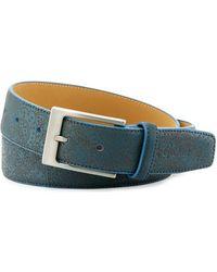 Robert Graham - Paisley Leather Belt - Lyst