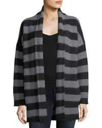 Vince - Cashmere Striped Open-front Cardigan - Lyst