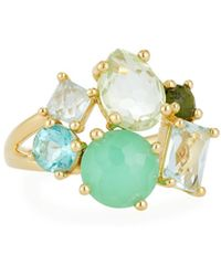 Ippolita - 18k Gold Rock Candy Cluster Ring In Laguna - Lyst