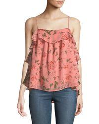 Endless Rose - Vine-print Flounce Cami Top - Lyst