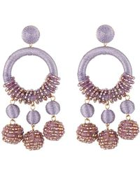 Lydell NYC - Wrapped Hoop Drop Earrings - Lyst
