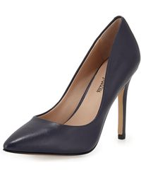 Neiman Marcus - Prestige Leather Pointed-toe Pump - Lyst