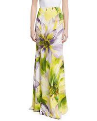 Naeem Khan | Floral Long Flared Skirt | Lyst