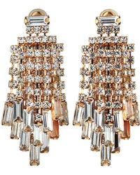 Kenneth Jay Lane - Waterfall Crystal Earrings Clear - Lyst
