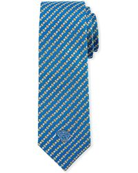 Versace - Men's Diamond-striped Silk Tie - Lyst