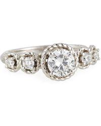 Neiman Marcus   14k Five-diamond Ring   Lyst
