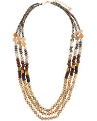 Nakamol - Metallic Mixed Bead Triple-layer Necklace - Lyst