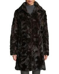 Gorski - Sectioned Mink Fur Stroller Coat With Down Reverse - Lyst