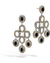 John Hardy - Dot Black Onyx Chandelier Earrings - Lyst