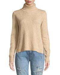 Quinn - Diagonal-stitch Turtleneck Sweater - Lyst