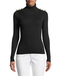 Goldie London - Sergeant Turtleneck Ribbed Sweater - Lyst