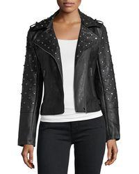 Glamorous - Studded Faux-leather Jacket - Lyst