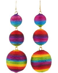 Kenneth Jay Lane Rainbow Triple Drop Earrings YCpIFEki