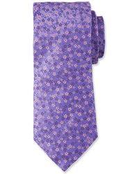 Duchamp - Small Floral Pattern Silk Tie - Lyst