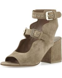 Laurence Dacade Polly Suede Lace-Up 50mm Sandal Yx8sM