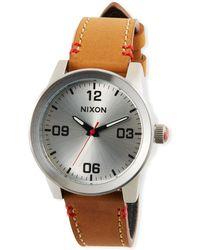 Nixon - 36mm G.i. Leather Watch - Lyst