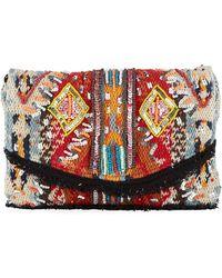 Sam Edelman - Cait Embroidered Canvas Clutch Bag - Lyst